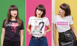 2560 2 - Statement dressing in slogan T-shirts: 'Even a small protest feels good'